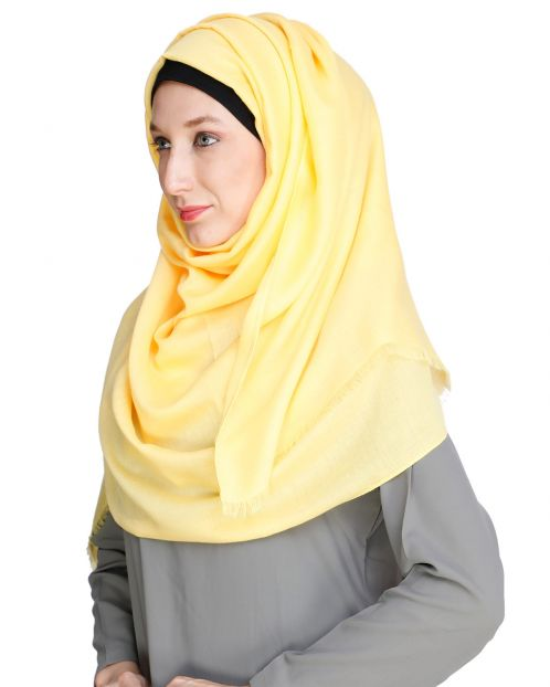 Solid Colour Yellow Hijab