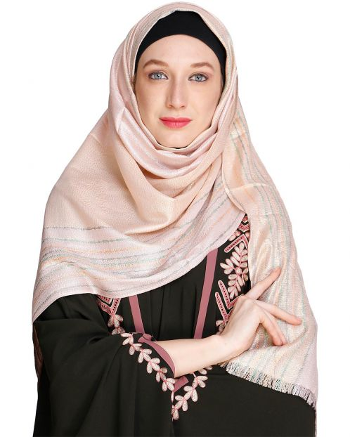 Coruscate Stripes Border Hijab
