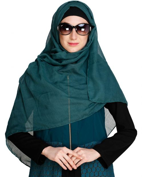 Bottle Green soft Cotton Hijab
