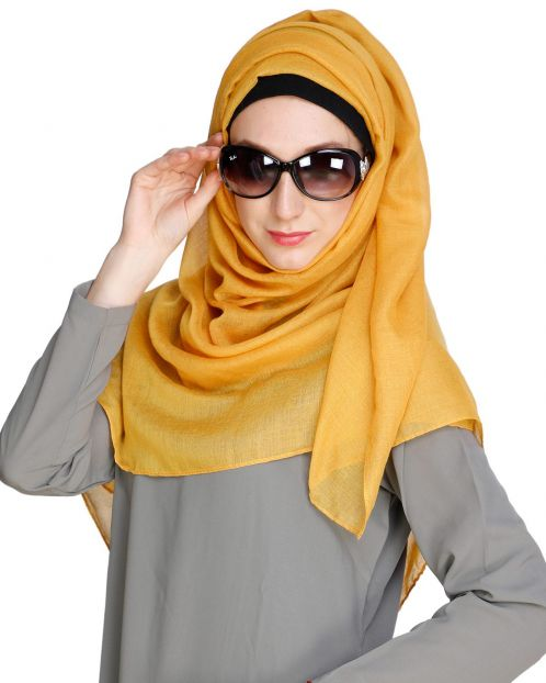 Mustard soft Cotton Hijab