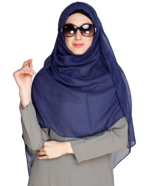 Royal Blue soft Cotton Hijab