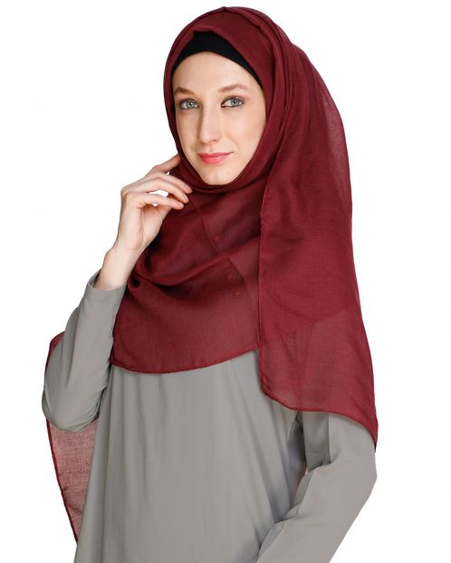 Maroon soft Cotton Hijab