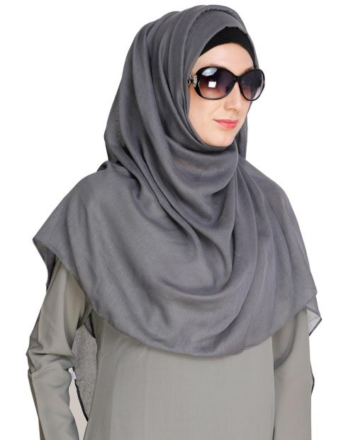 Grey soft Cotton Hijab