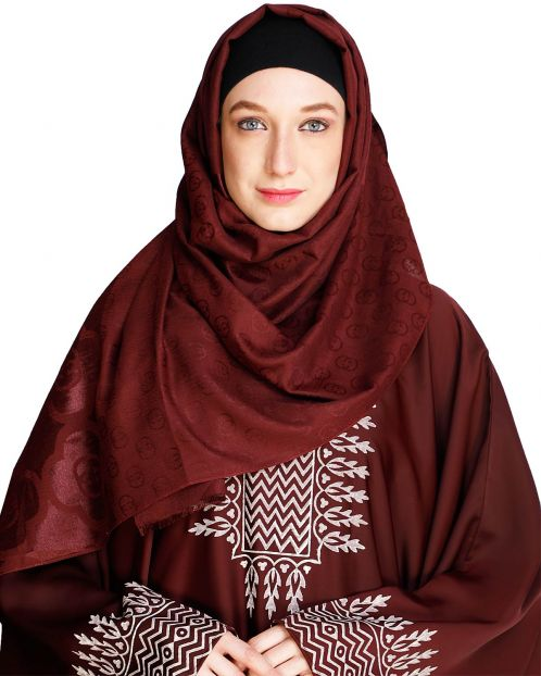 Modern Art Wine Hijab