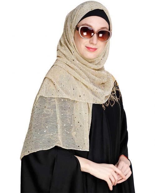 Sequence Sprinkle Brown crinkled Hijab