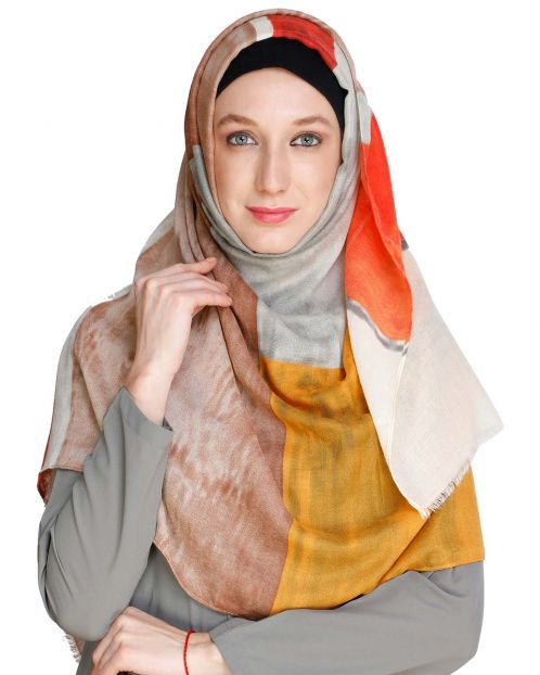 Vibrant Cloured Orange Hijabs