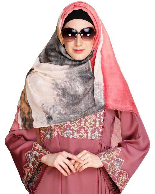 Vibrant Cloured Black Hijab