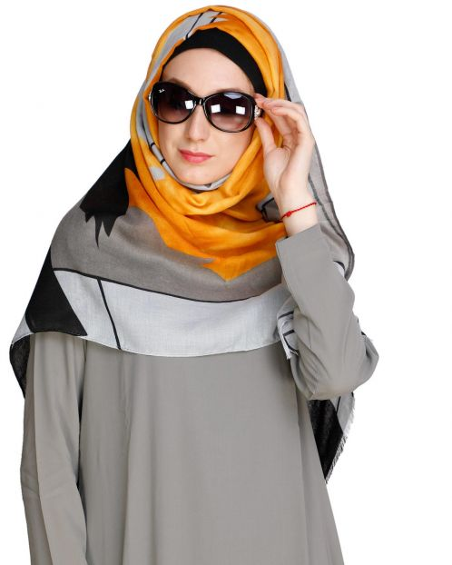 Eye Catching Mustard Hijab