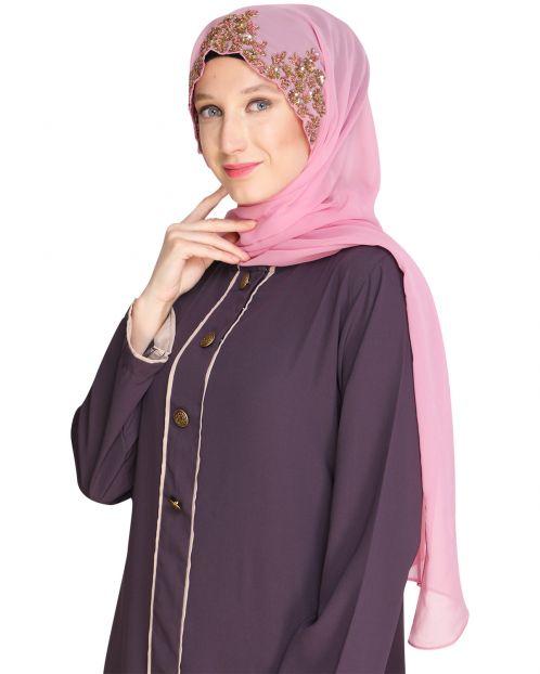 Headshot Pink Partywear Hijab