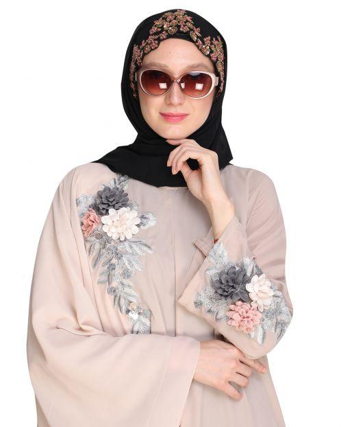 Headshot Black Partywear Hijab