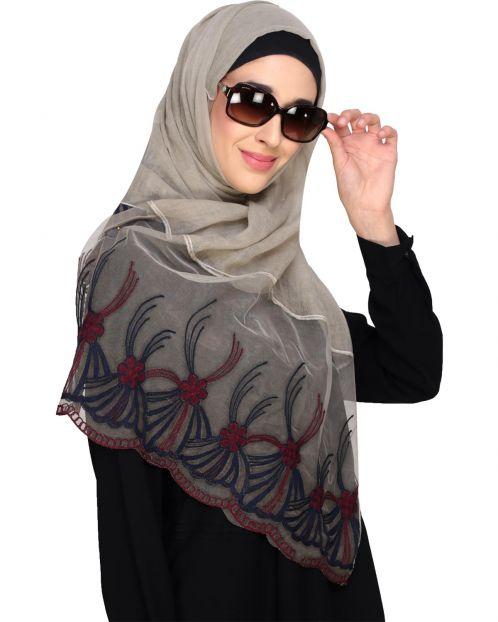 Net Delight Beige Hijab