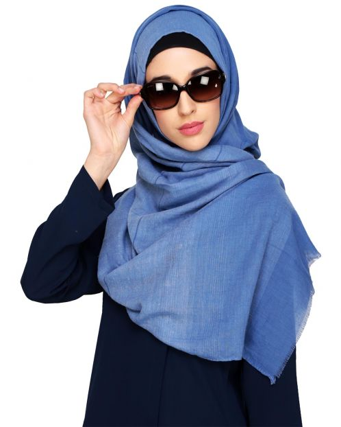 Penny Plain Light Blue Hijab