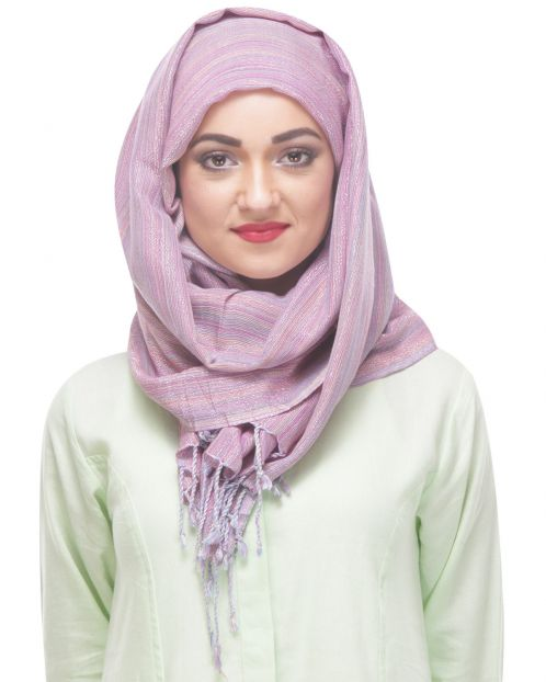 Gimmering Pink viscose lurex Formal Hijab