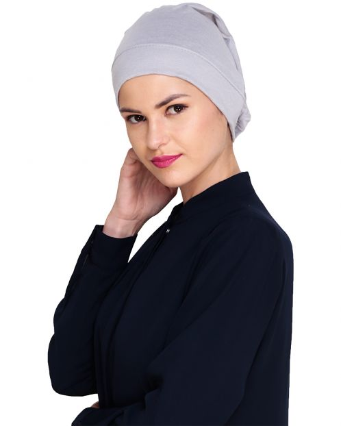 Grey Plain Hijab Cap