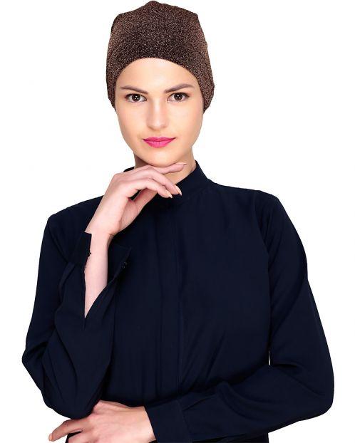 Bronze Shimmer Hijab Cap