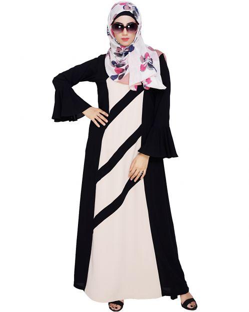 Flouncy Sleeve Black Dubai style Abaya