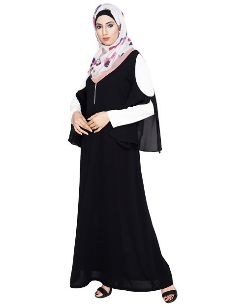 Dora Sleeves Black Abaya