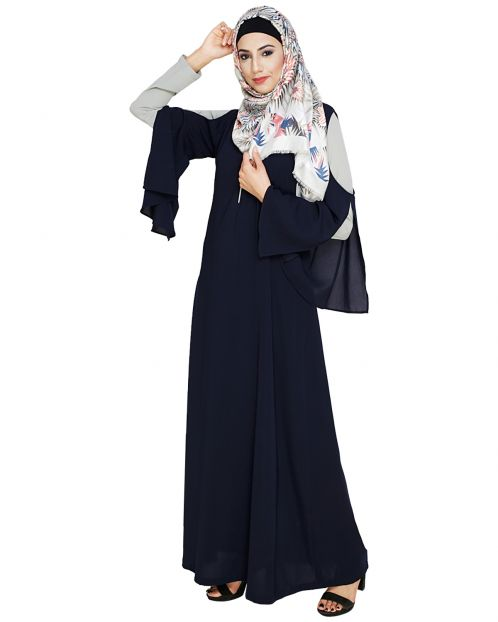 Dora Sleeves Blue Abaya