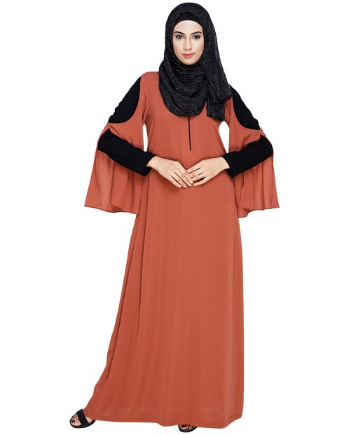 Dora Sleeves Brick Red Abaya