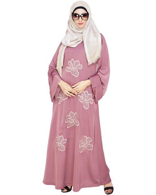 Daisy Onion Pink Dubai style Abaya
