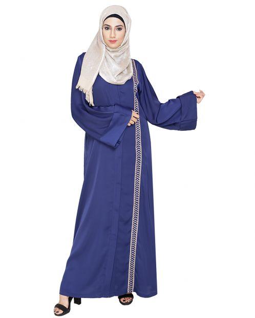 Lofty Blue Dubai Style Abaya