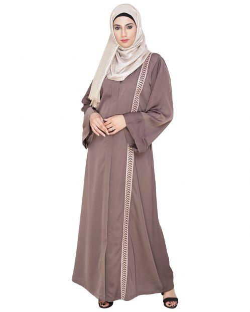 Lofty Oak Brown Dubai Style Abaya