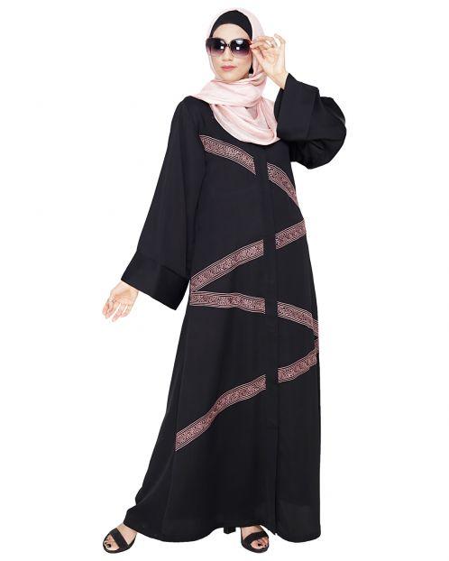 Glinty Black Dubai Style Abaya