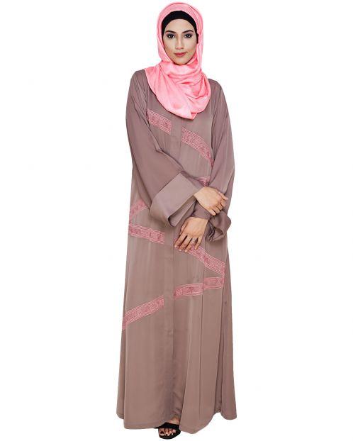 Glinty Umber Brown Dubai Style Abaya