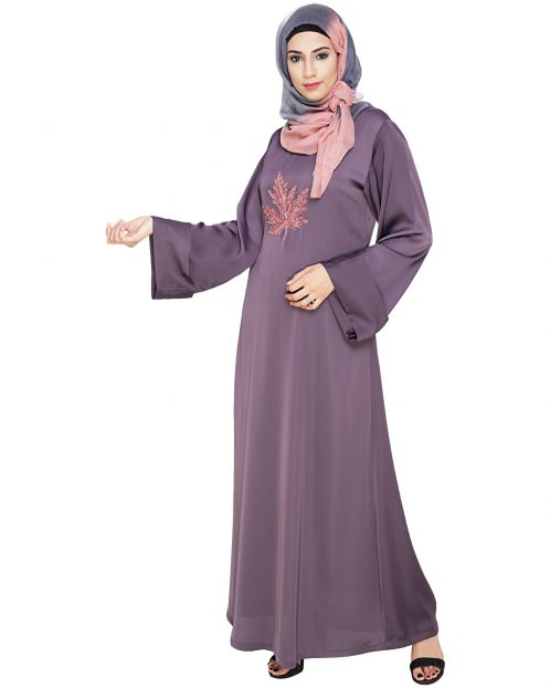 Wispy Light Purple Dubai Style Abaya