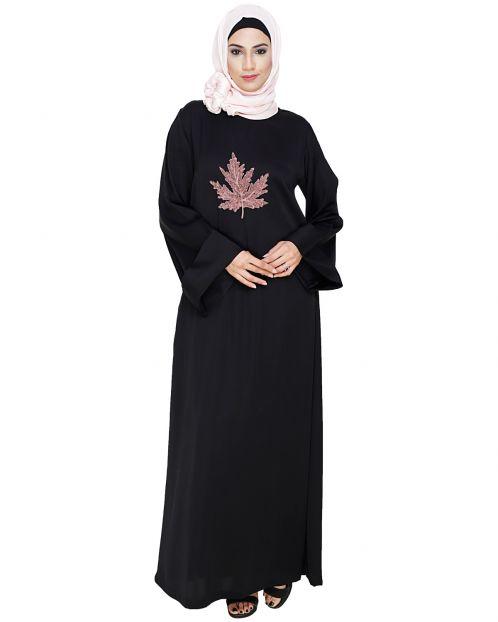 Wispy Black Dubai Style Abaya