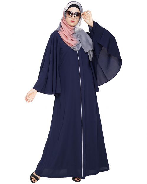 Angel Sleeves Blue Abaya