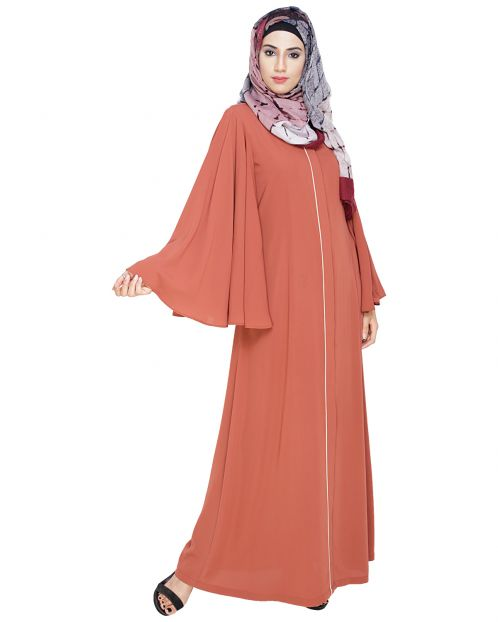 Angel Sleeves Brick Red Abaya