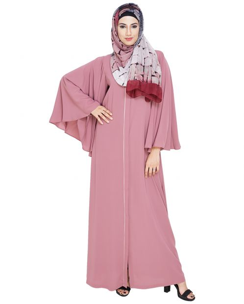 Angel Sleeves Onion Pink Abaya
