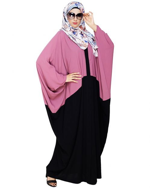 Spiffy Black and Onion Pink Kaftan