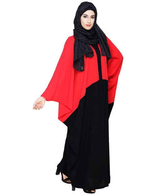 Spiffy Black and Red Kaftan