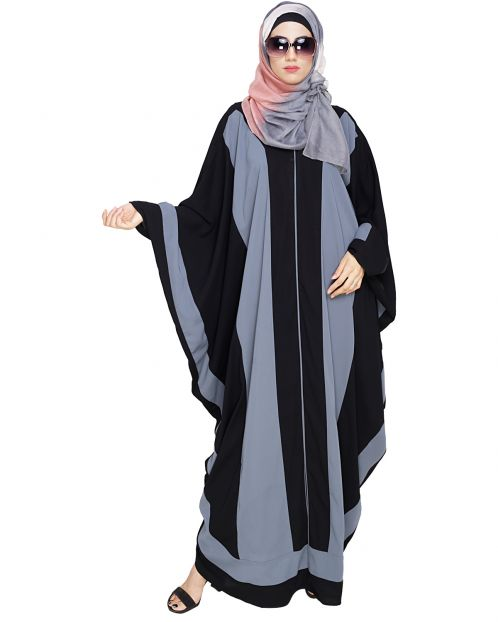 Aesthetic Grey and Black Kaftan