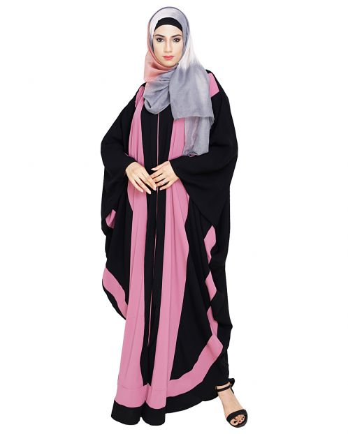 Aesthetic Onion Pink and Black Kaftan