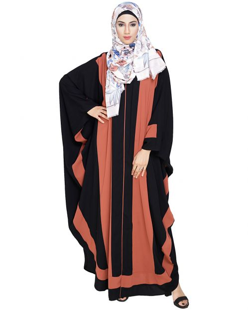 Aesthetic Brick Red and Black Kaftan