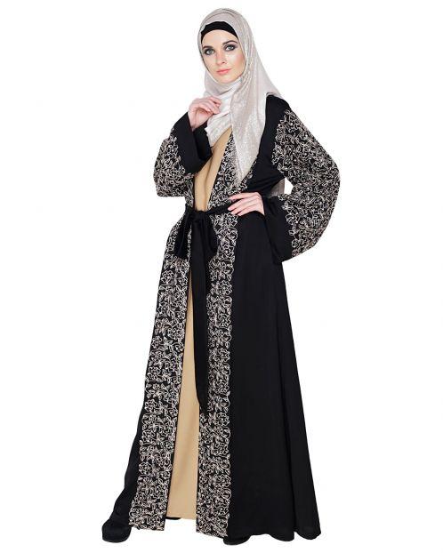 Luxury Black Dubai Style abaya