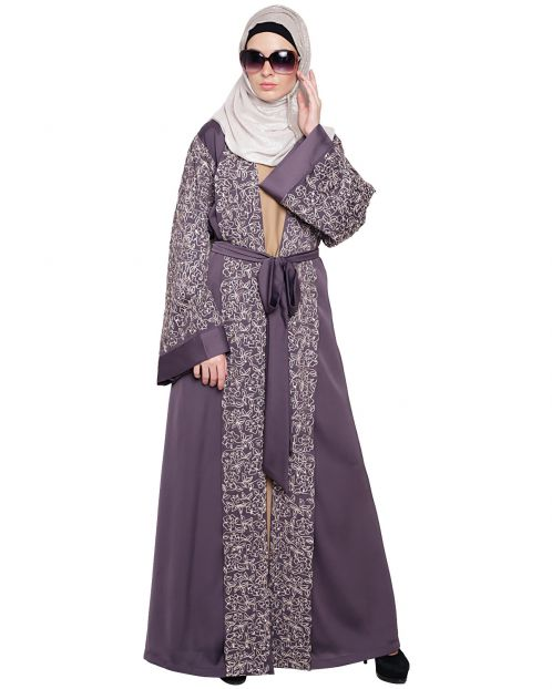Luxury Purple Dubai Style abaya