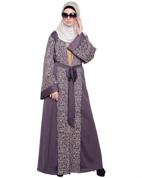 Luxury Purple Dubai Style abaya