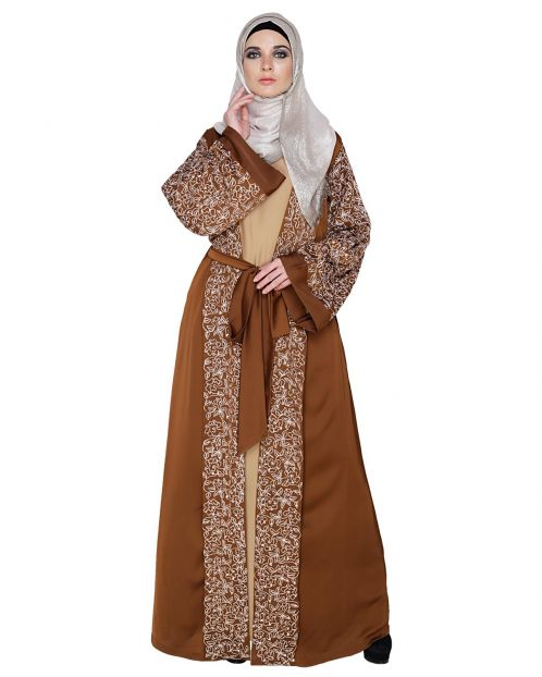 Luxury Brown Dubai Style abaya
