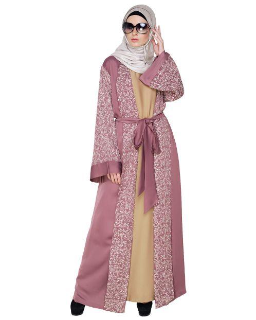 Luxury Onion Pink Dubai Style abaya