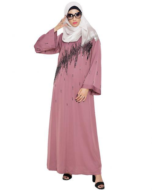 Stardust Inion Pink Dubai Style Abaya