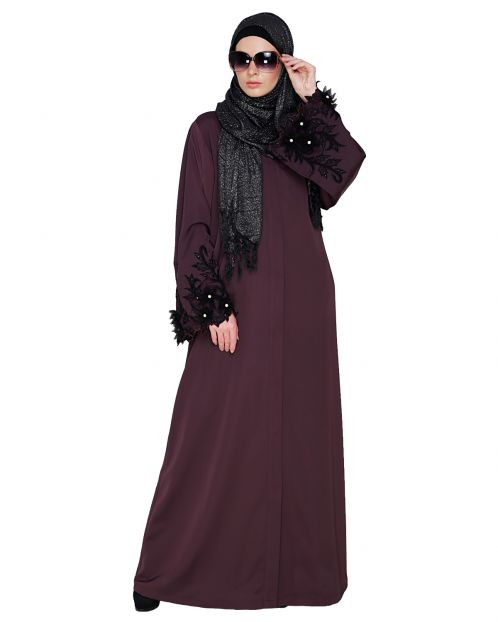 Regal Purple Dubai style Abaya