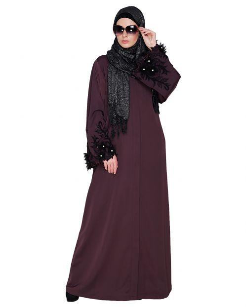 Regal Purple Dubai style Abaya