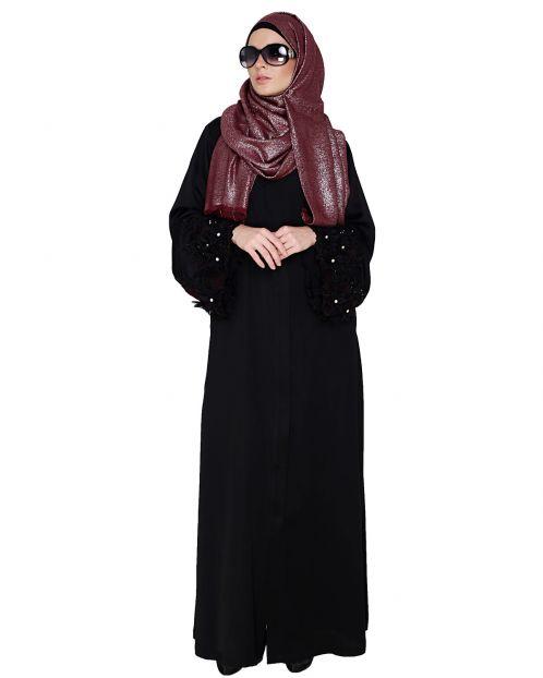 Majestic Black Dubai style Abaya