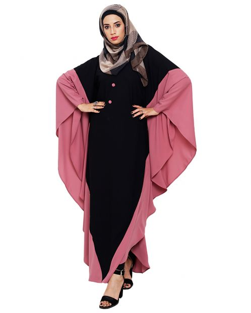Aesthetic Black and Onion Pink Kaftan