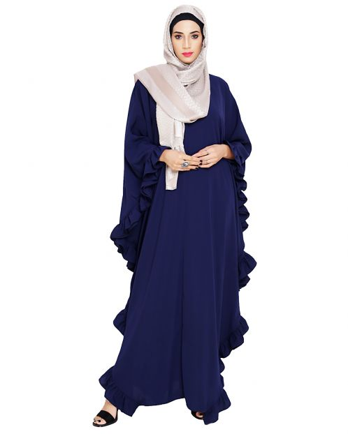 Ruffled Blue Kaftan