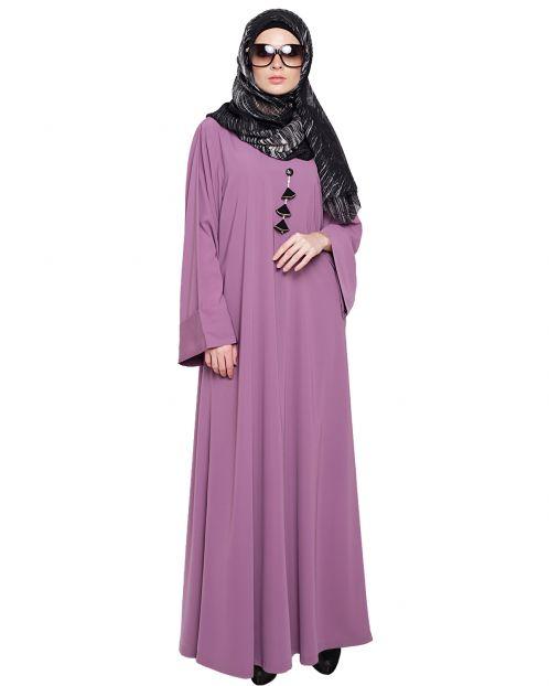 Classy Mauve Abaya
